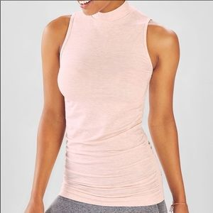 Fabletics mockneck fitted tank/tunic